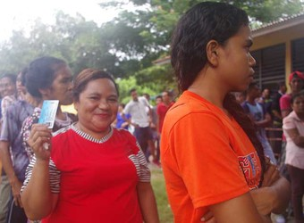 Dili residents flock to vote for Presidential Elections 2017 with enthusiasm.